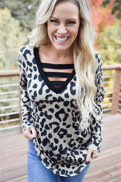 Picture of Yes Girl Leopard Tunic 🇺🇸